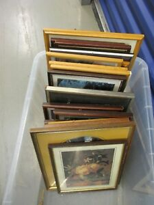 PICTURE-FRAMES-WITH-GLASS-JOB-LOT-TEN-IN-TOTAL