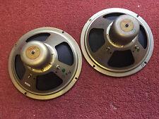 "Pair amazing vintage 50s 60s BIG Alnico magnet 10"" CELESTION speakers (259295)"