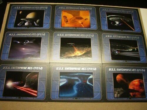 Complete Star Trek The Next Generation Series 2 9 Card Enterprise Insert Set TNG