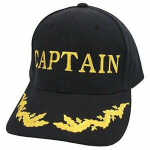 Image is loading Village-Hat-Shop-BALLCAP-Embriodered-Ballcap-Captain da2e092584d