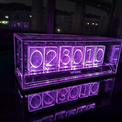 Acrylic Led Nixie Clock - NIXT CLOCK COLORIC - Assembly Kit | eBay