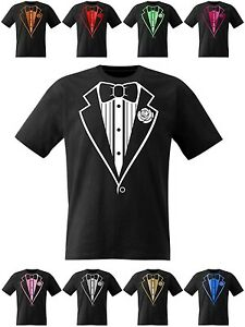 Tuxedo-T-Shirt-Fancy-Dress-Party-Hen-Stag-Night-Fluorescent-and-Electric-Print