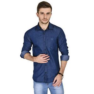 Kaya Deals Men's Casual Blue Shirt (KMS0055-BLUE)