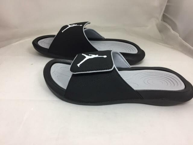8770fbbde38 Nike Jordan Hydro 6 VI Black White Men Sandal Slides Slippers Aj6 ...