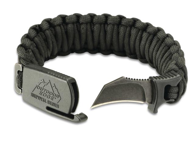 Outdoor Edge Pck 90c Para Claw Paracord Knife Survival Bracelet Black