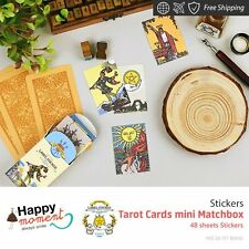 Tarot Cards mini Matchbox Stickers Toy Gift Lovely Happy Planners Cool 48 sheets