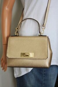 MICHAEL-KORS-CALLIE-Tasche-Bag-Saffianoleder-MD-TH-Satchel-pale-gold