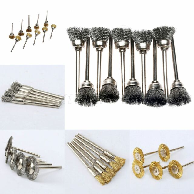 45pcs Rotary Stainless Steel Wire Wheel Brushes for Metal Rust Removal Polishing