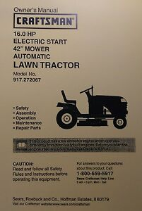 craftsman mower manual lt1000