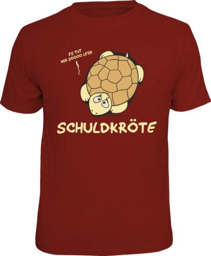 Camiseta Divertida Schuldkröte Tortuga Camiseta Regalo Estampado Cachondo