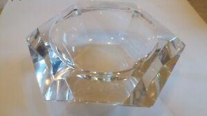 posacenere in vetro cristallo design geometrico