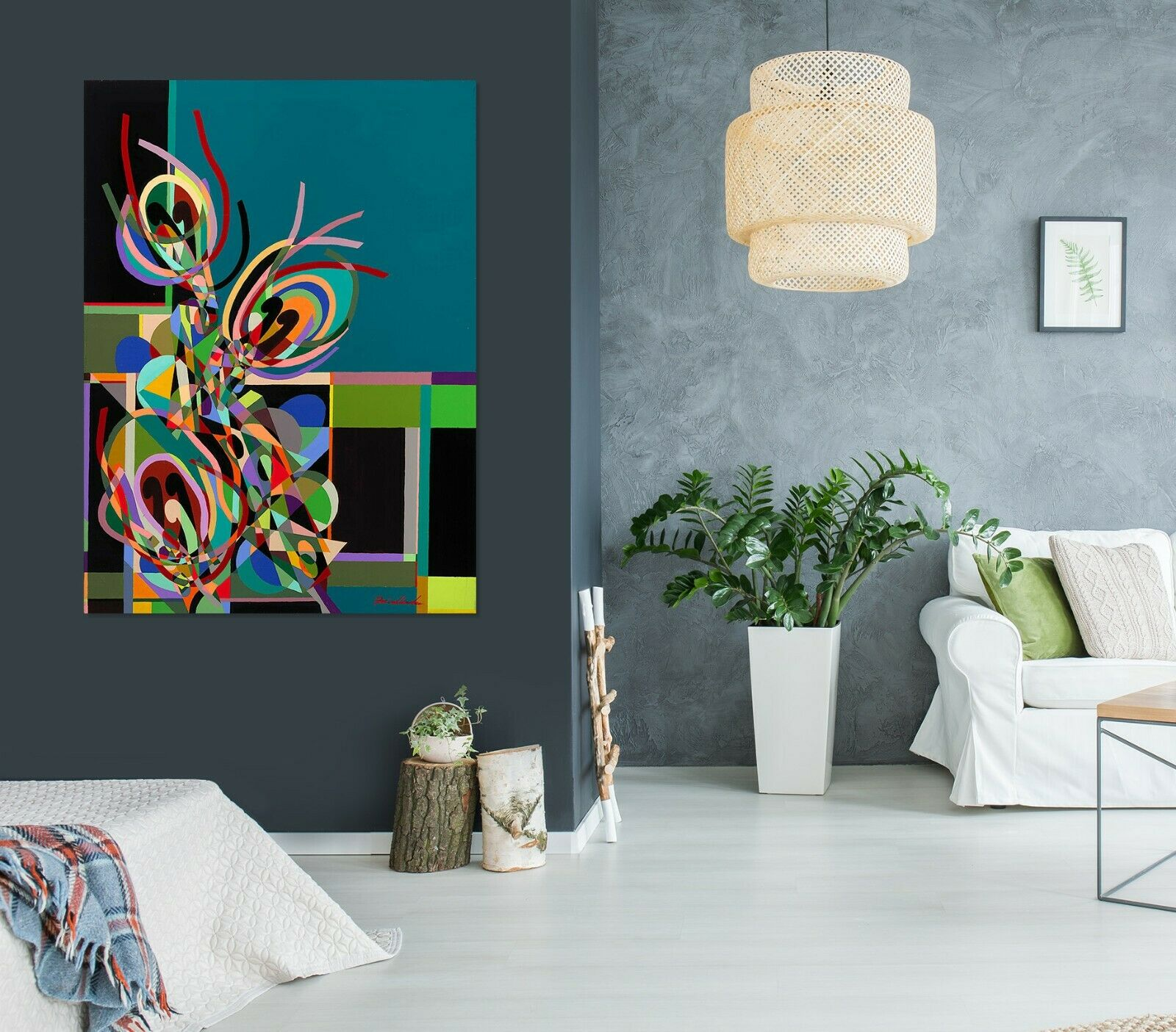 3D Farbe Line Pattern 015NAN Wall Stickers Vinyl Wallpaper Murals Allan P Ava