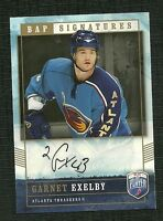 GARNET EXELBY 06-07 UD BE A PLAYER SIGNATURES AUTO ATLANTA THRASHERS