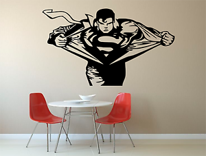 Image Is Loading Superman Emblem Kids Adult Home Wall Decal Sticker