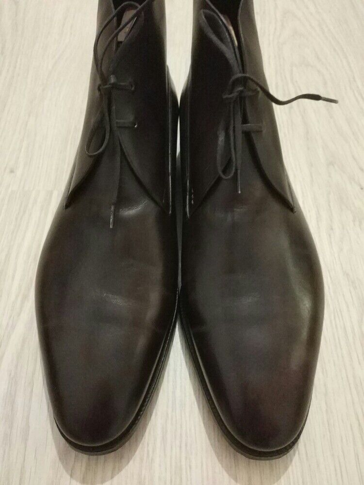 NEW EXCLUSIVE!!! JOHN LOBB SHOES ST CREPIN 2012 9 EE USA 9.5 DARK BROWN