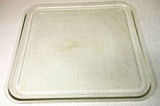 """10 1//4/"""" x 10 5//8/"""" Microwave Oven Rectangle Replacement Glass Plate Footed"""