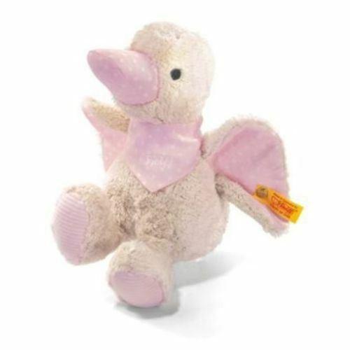 238352 Steiff 18cm Duck PINK Organic Neonato Ragazza Giocattolo Regalo di Natale