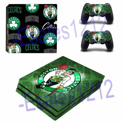 Ps4 Pro Console Skin Decal Nba Boston Celtics Vinyl Stickers Decals Covers Wrap Terrific Value Video Game Accessories