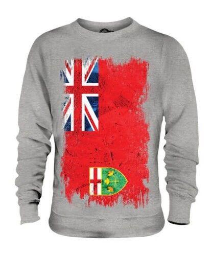 Ontario Grunge Flag Unisex Pullover Top Geschenk T-Shirt Kleidung Trikot