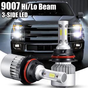 Image Is Loading Pair 9007 Led Headlight Bulb Hi Lo Beam