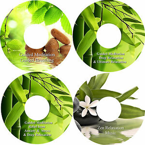 Guided-Meditation-Relief-Of-Anxiety-amp-Stress-Breathing-Relaxation-Zen-on-4-CDs