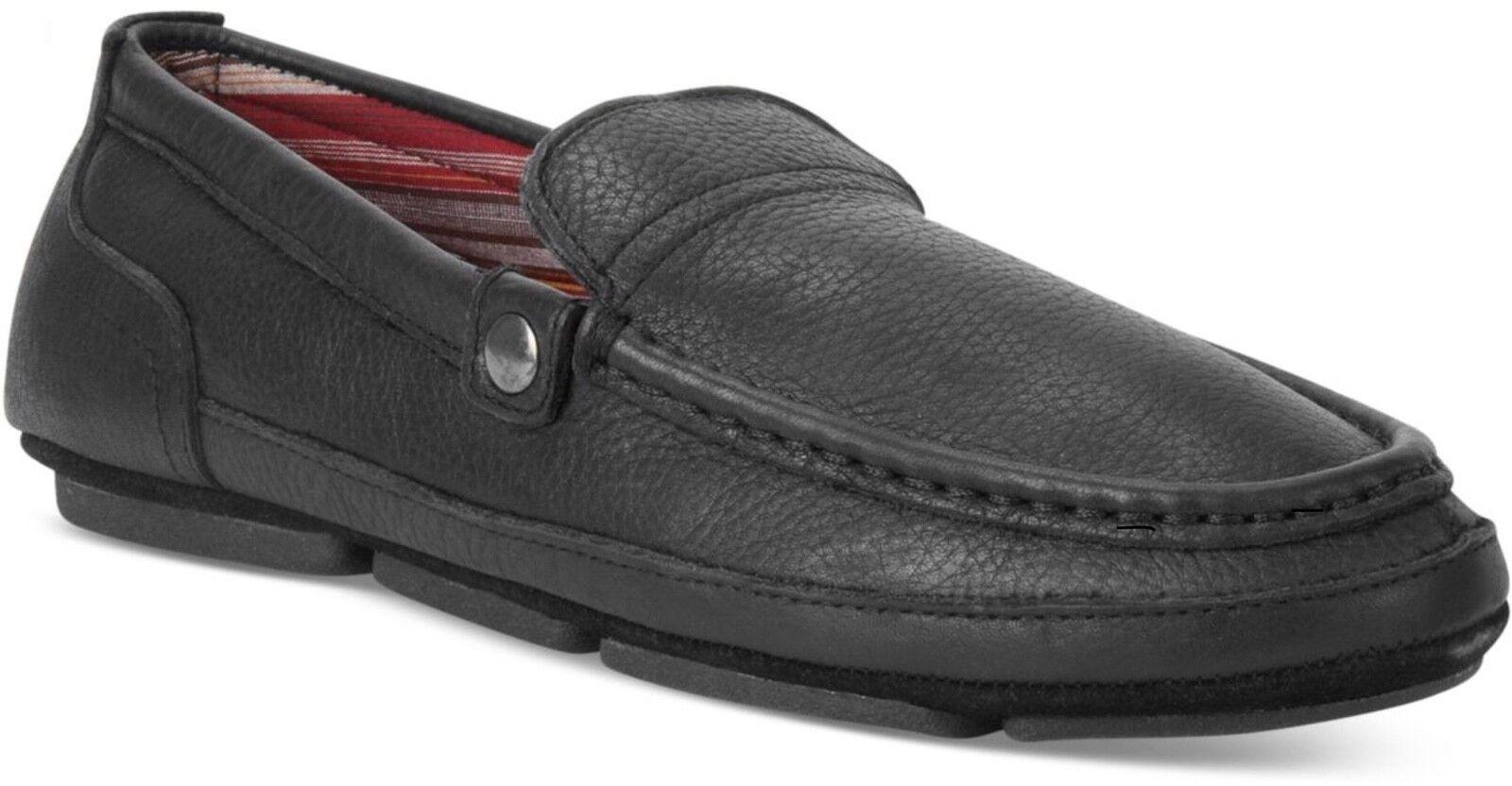 NIB LB Evans Finn Men's Bedroom Loafer Slippers Leather Black I