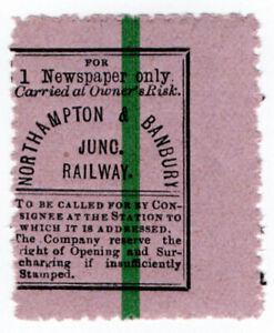 I-B-Northampton-amp-Banbury-Junction-Railway-Single-Newspaper-Parcel