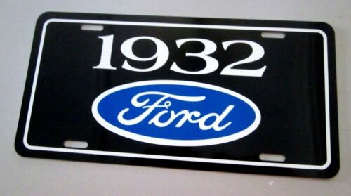 1932 Ford License plate car tag Hot Rod High Boy Roadster Deuce Coupe 3 window 5