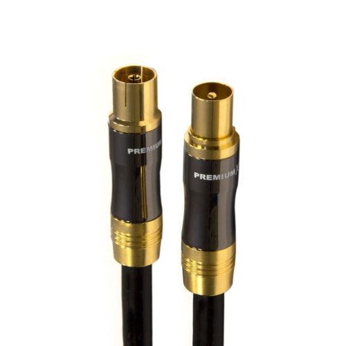 PremiumX 12,5m TV Antennenkabel Koaxial IEC Anschlusskabel KUPFER Buchse-Stecker