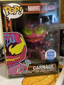 Marvel CARNAGE Black Light #678 FUNKO SHOP EXCLUSIVE!!! New In Box w/ protector