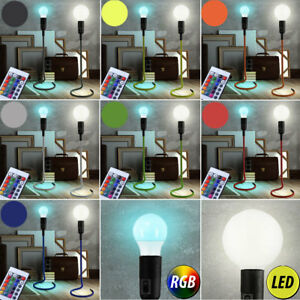 LED-RVB-table-lampes-Telecommande-LA-VIE-chambre-retro-tissu-Lumieres
