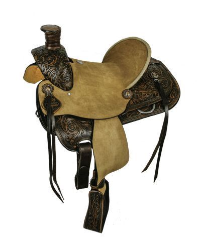 style roper seat hard T Double 15 and 14 saddle Bars QH Full