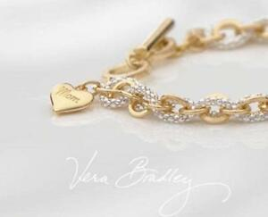 Vera Bradley Mom Stardust Bracelet Mother S Day Gift Gold Tone Silver Beads