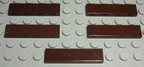 1238 Lego loseta-mosaico 1x4 marrón oscuro 5 unidades