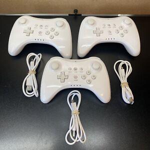 (3)Wireless Bluetooth Wii U Pro Remote Gamepad for Nintendo Wii U Controller+Cab