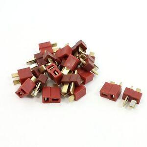 10-pares-Deans-antideslizante-T-enchufe-maennliche-femenina-RC-ESC-bateria-et