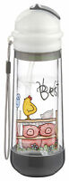 Drinkadeux™ Sip Art Double-wall Insulated Portable Bottle-best Buds Gray- Wow