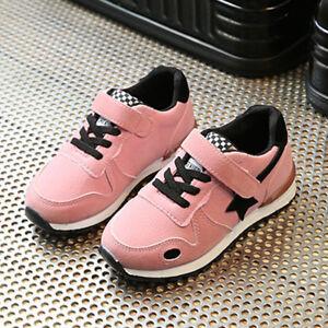 Toddler Kids Sport Running Baby Crib Shoes Boys Girls Star Mesh Shoes Sneakers