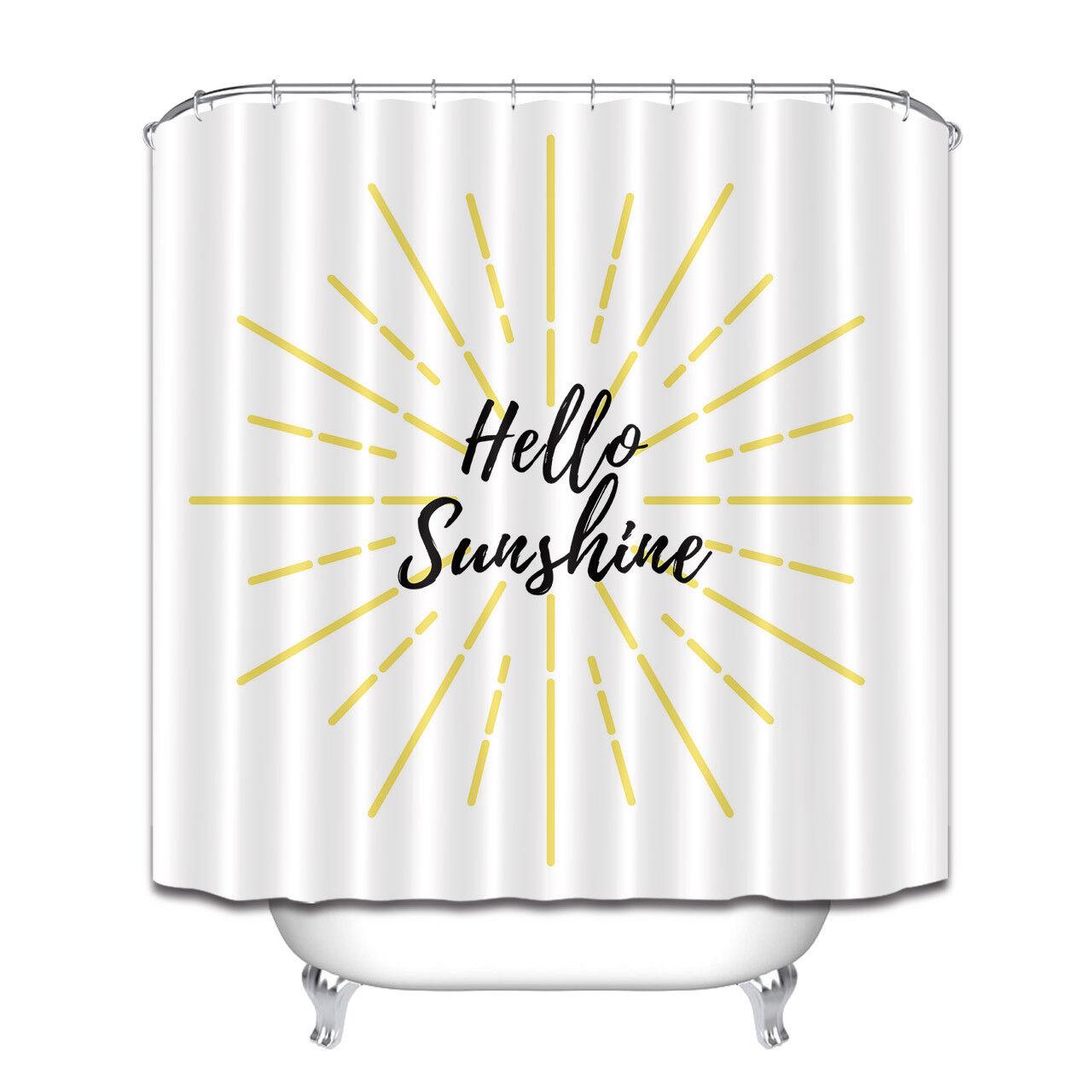 Shower Curtains Hello Sunshine Gold Sunlight On White Shower