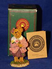 "Boyds Bear Bearstone ""Many Thanks"" Lady Bear with Flowers Figurine NiB 228378"