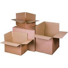 200 Faltkartons 200x200x80mm Einwellig  Versandkartons Karton B-Welle braun