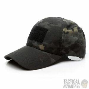 Schwarz-Camouflage-Operators-Baseball-Kappe-Hut-Airsoft-Army-Military-Camo-UK