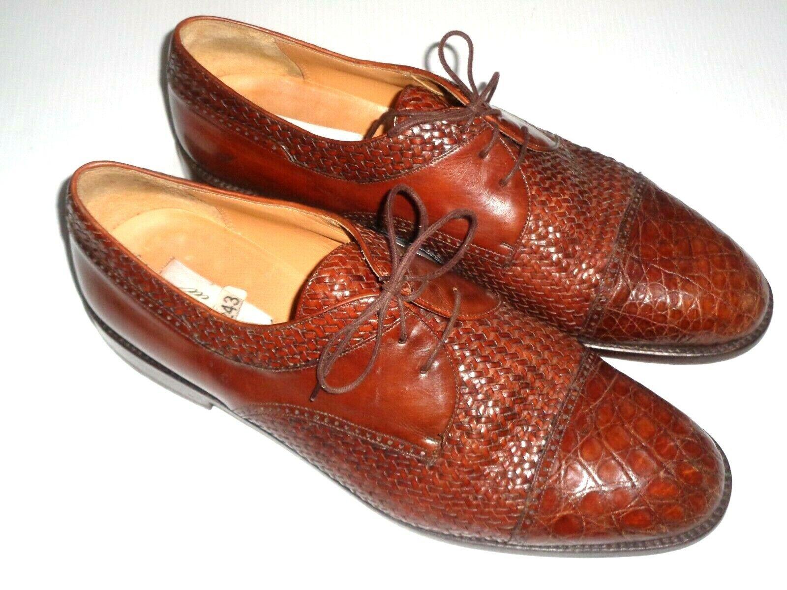 MEZLAN SALINAS Tejido Zapatos De Cocodrilo  Talla 14 M marrón