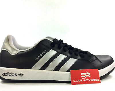 14 Adidas Grand Prix Fashion Sneakers G59934 Black Metallic Silver White x1 | eBay