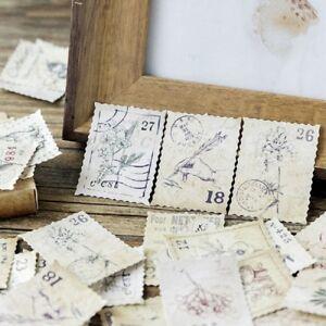 46Pcs-Paper-Stickers-Vintage-Stamps-Succulent-Diaries-Planners-Scrapbooking-DIY