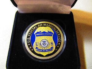 U-S-Federal-Aire-Marshal-Challenge-Monedas-Con-Caja-de-Presentacion