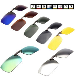 Polarized-Clip-On-Driving-Glasses-Sunglasses-Day-Vision-UV400-Lens-Night-VisPYW