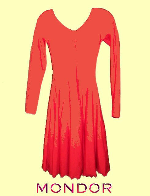 Mondor  Size 8-10 Red Practice Skating Dance  Dress ECONOMICAL  welcome to buy