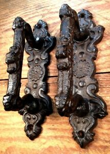 2-Door-Barn-Cast-Iron-Gate-Pull-Shed-Handle-Rustic-Antique-Style-Handles-6-3-4-034