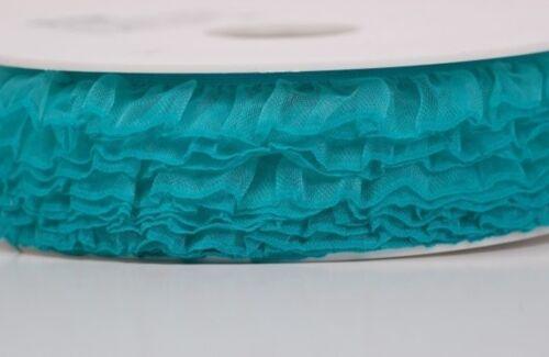 5Meter Gummiband m Rüschen Gummiborte in ca 17-18mm breit Nähen Basteln 1€//m